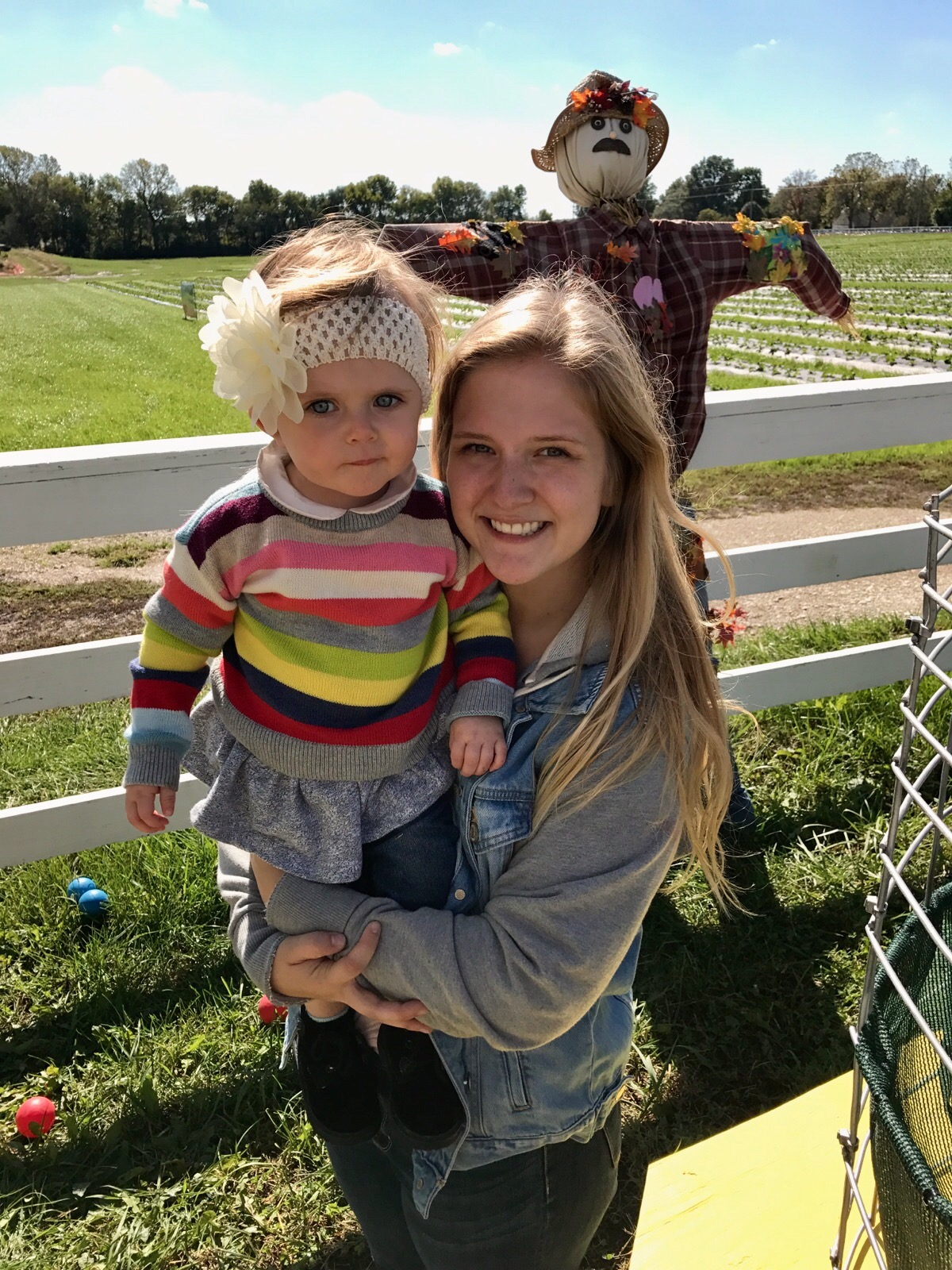 Our newest Northland CAPS intern, Natalie Masters, with her 1.5 year old niece.