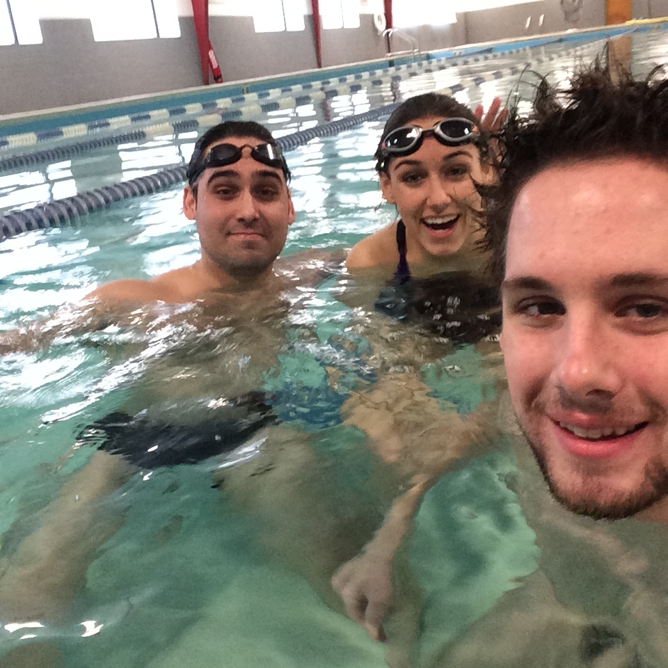 Both of my brothers - Cam, left, and Colin, right - are swimmers. Learned a thing or two from them!