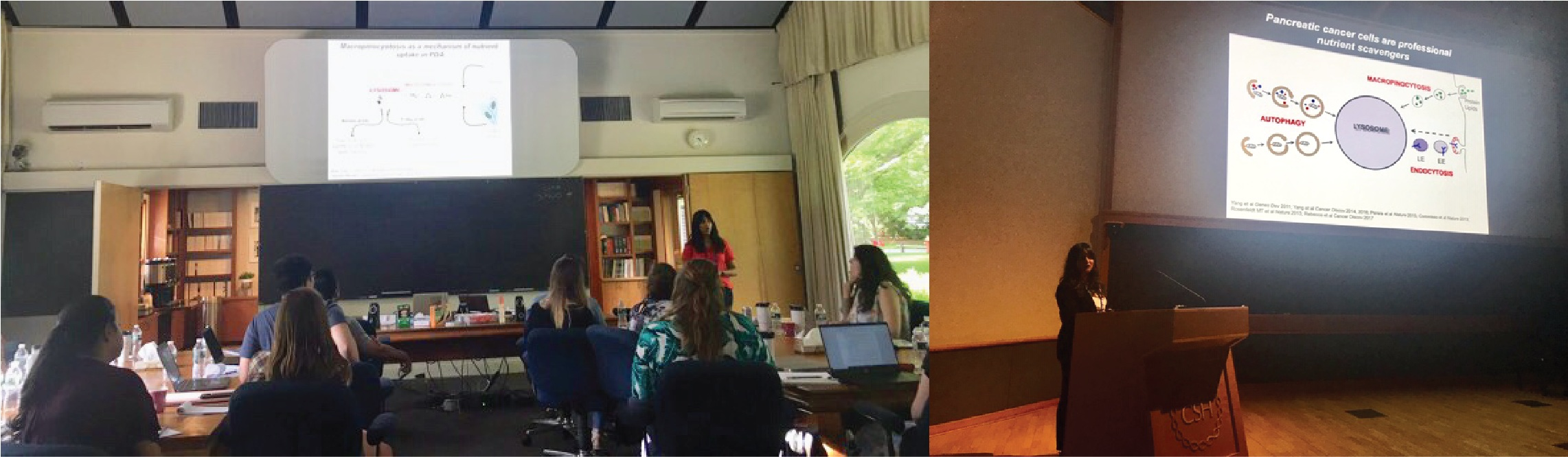 Rushika presents on autophagy and lysosomes at the Cold Spring Harbor Labs workshop on Pancreatic Cancer