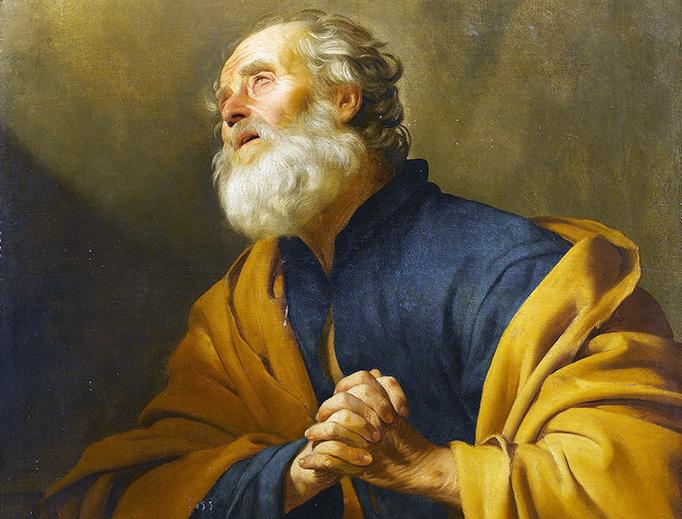 St. Peter Penitant by Gerard van Honthorst, 1592-1656