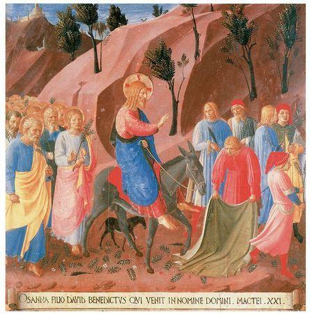 Jesus Enters Jerusalem , Fra Angelico, 1395-1455