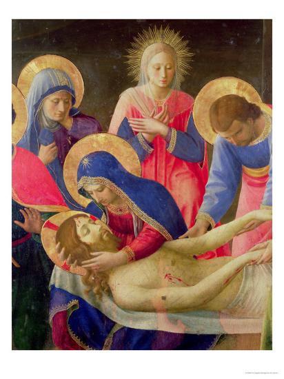 Lamentation over the Dead Christ  (detail), Fra Angelico, c. 1438