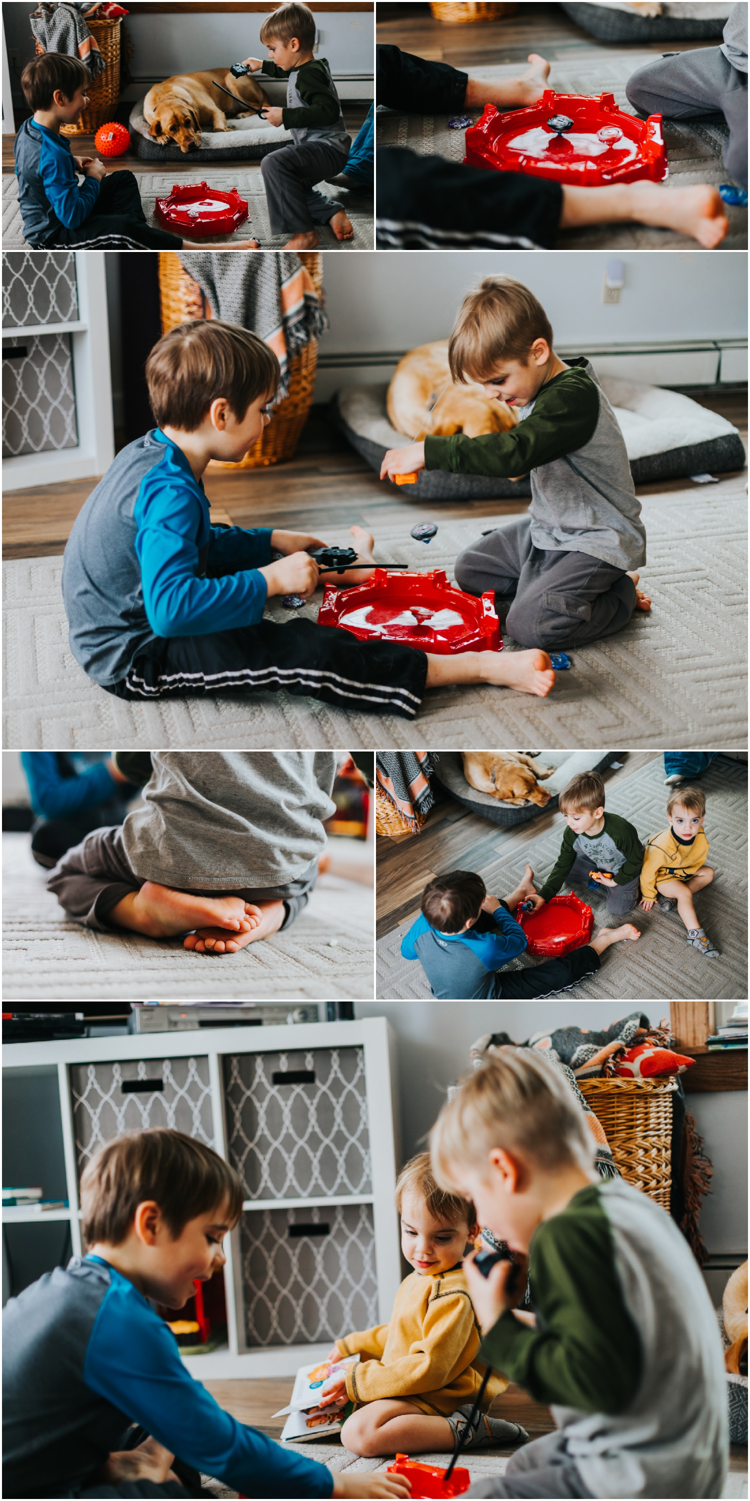 "Anyone else's kids completely enamored with BeyBlades? Our house has this constant 'whirrrrr"" noise going on now…"
