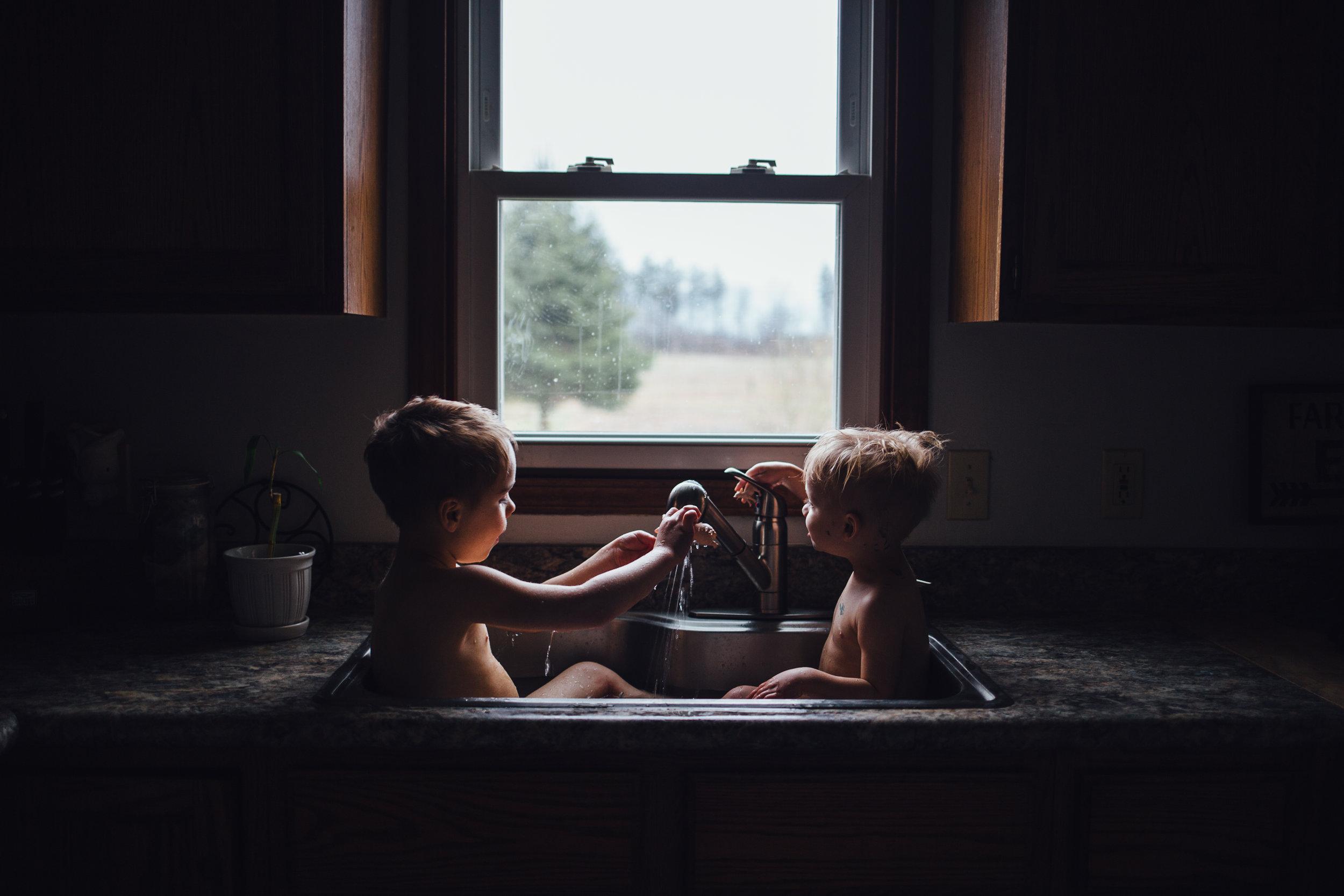 boys in sink bath near kalamazoo michigan