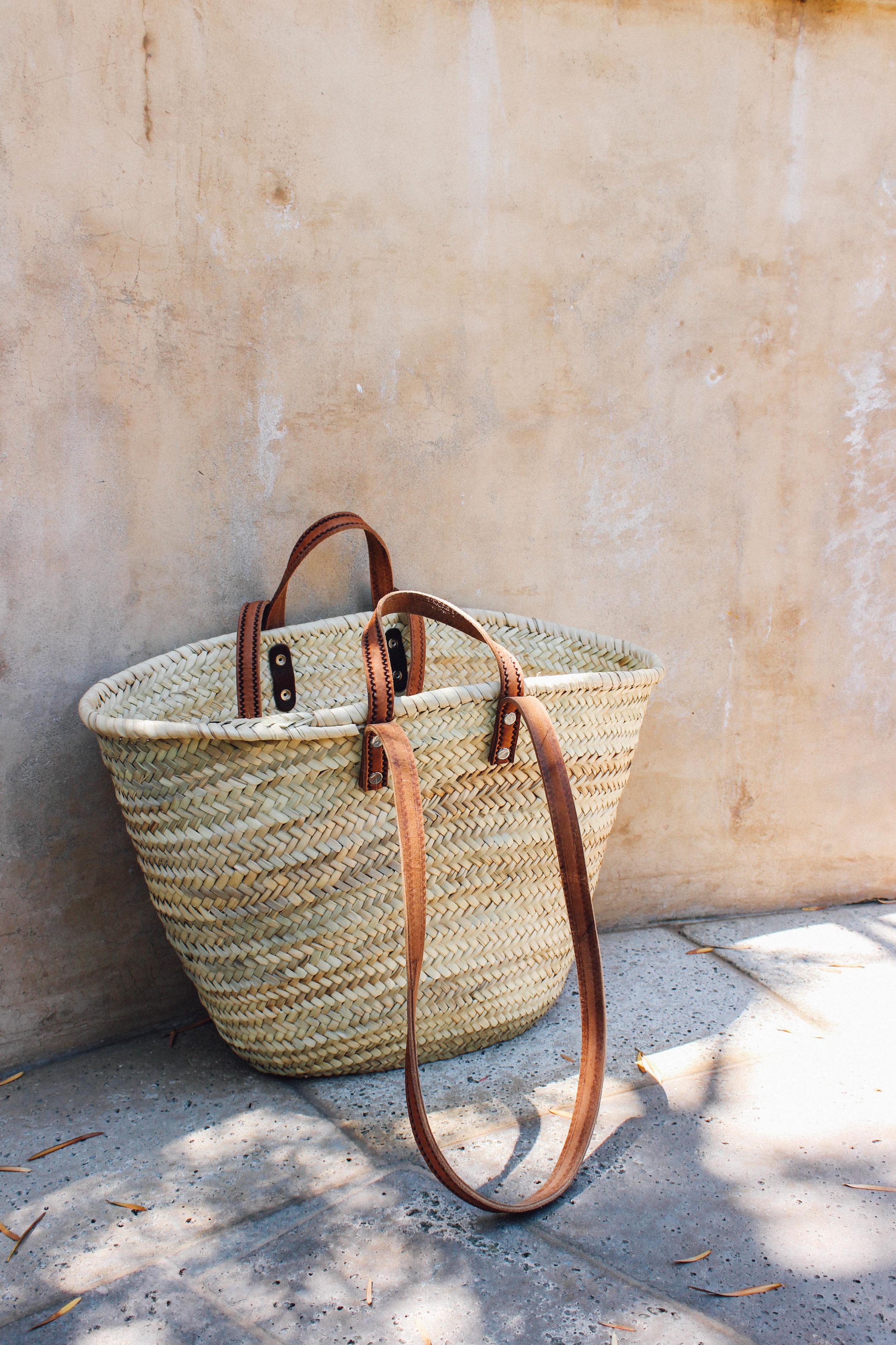 Christy Dawn Paloma Dress and Handmade Moroccan Straw Tote Bag. | TaylorKristiina.com