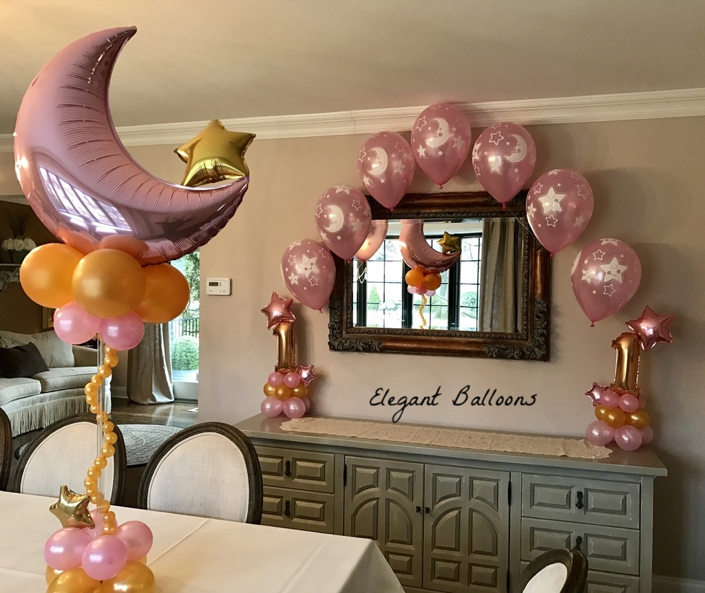 first birthday cake table arch