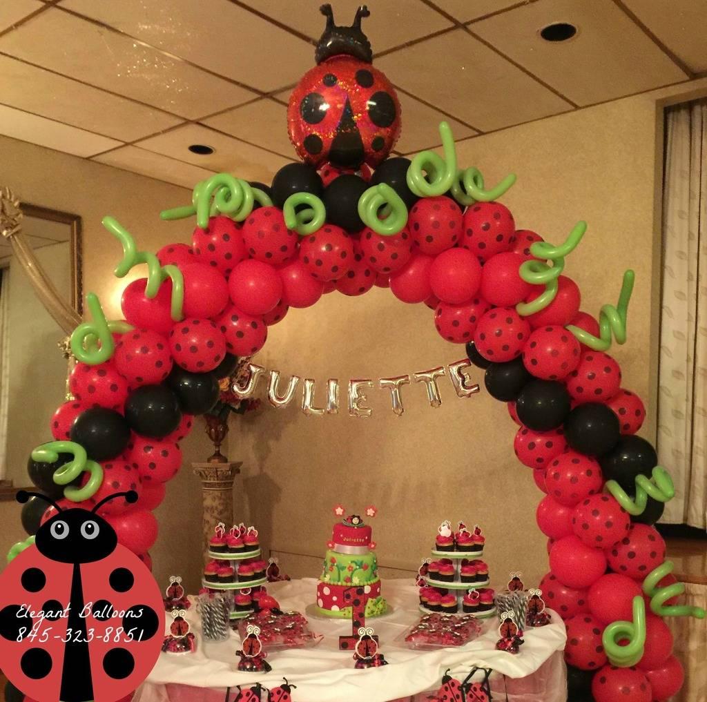 Lady Bug Cake Arch