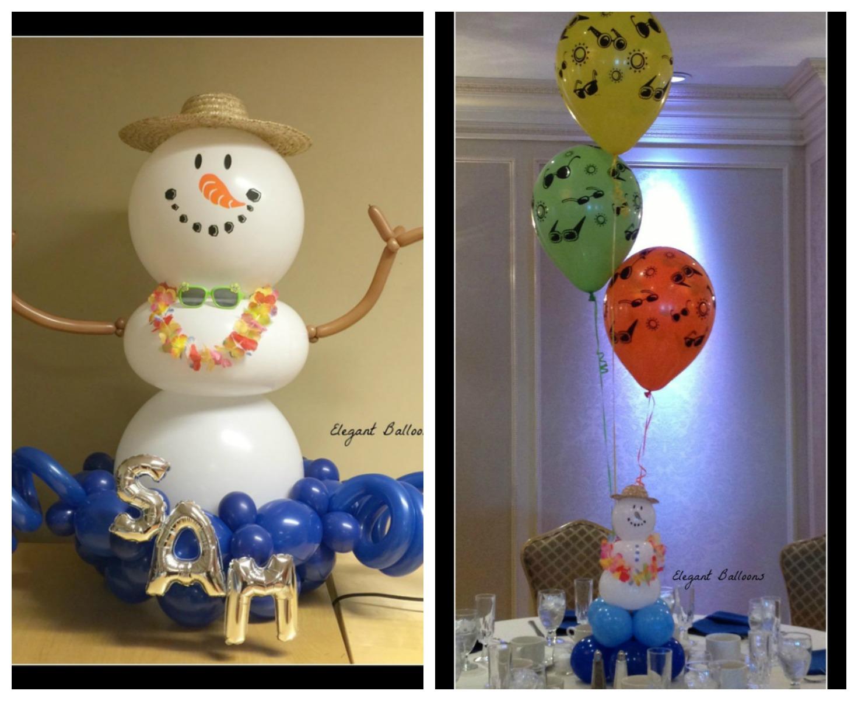 Snowman winter theme