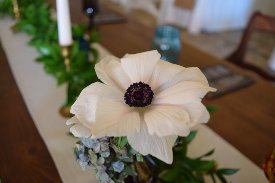 Greenery with focal blooms