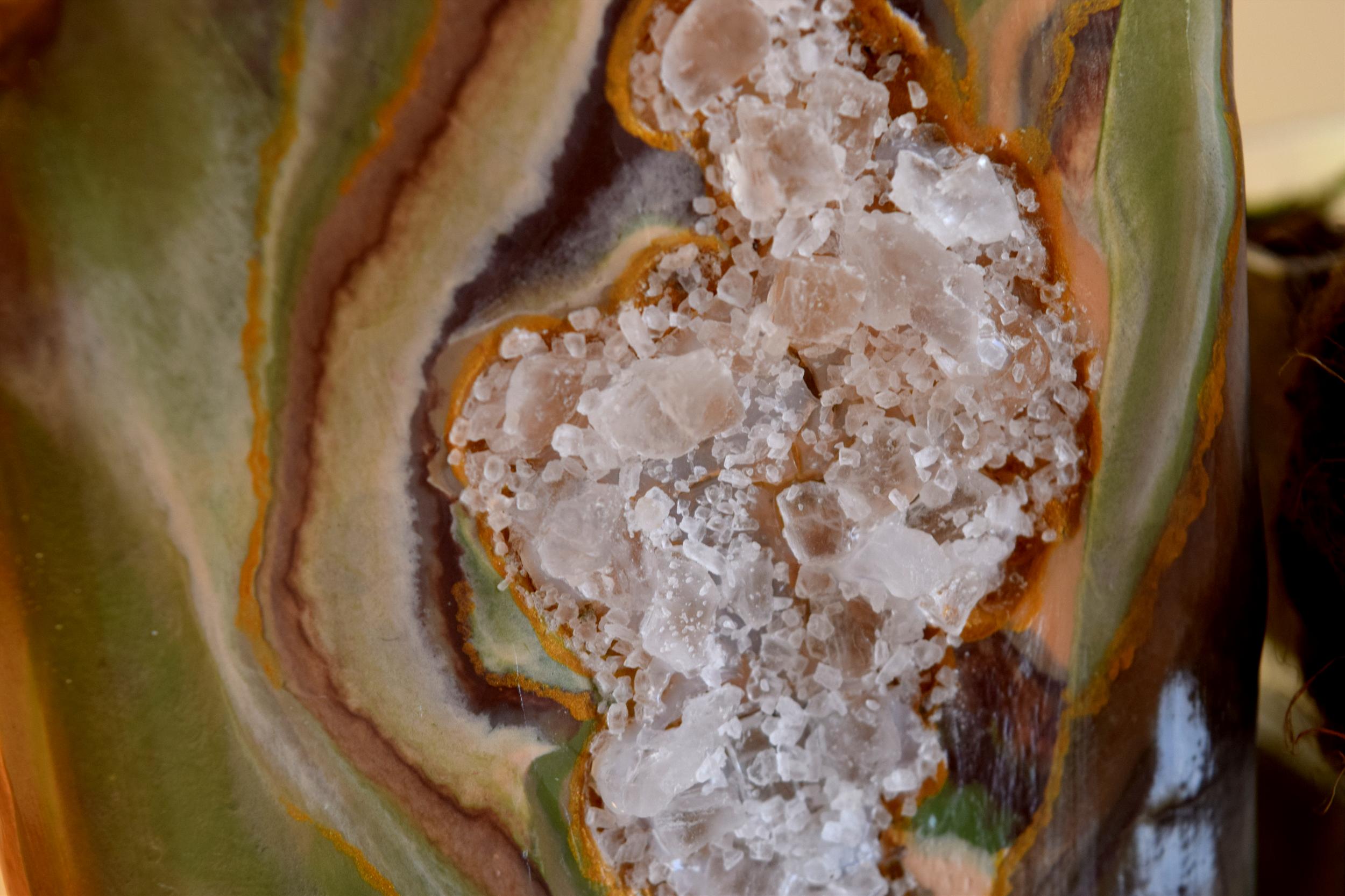 agate geode DIY closeup