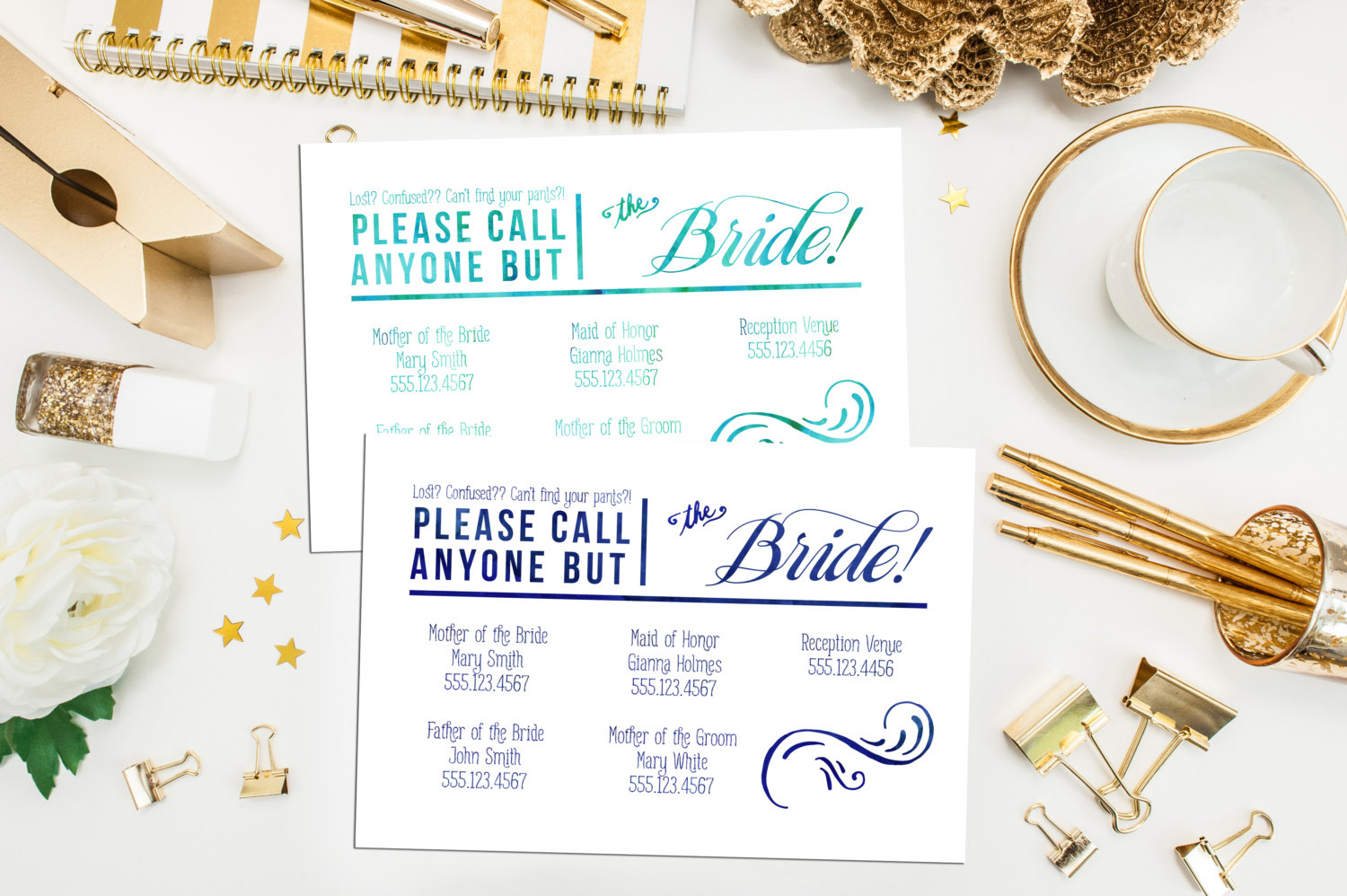 """Customizable """"Call Anyone but the Bride"""" printable download from Etsy Seller MeyerMarketDesigns, $22"""