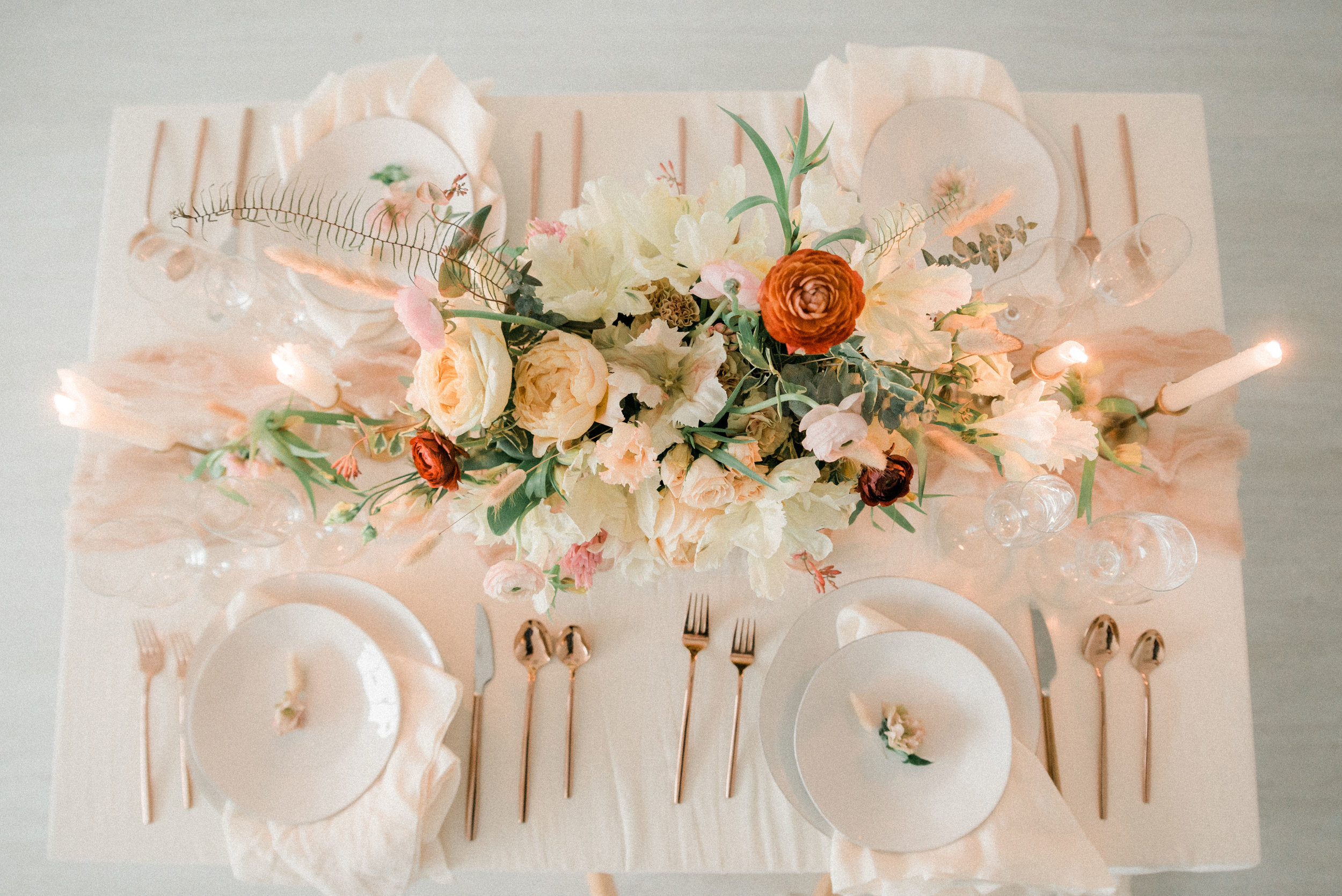 Decor Extras - The little things add up, but when you partner with us for planning, management or floral, take advantage of options like trend-forward brass candlesticks and lanterns or classic touches like vases and votives at no extra cost!