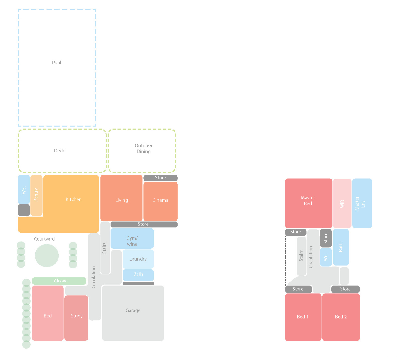 Space planning diagrams