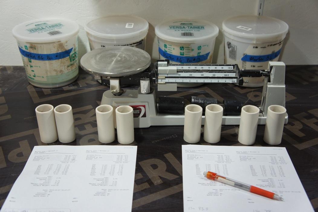 Weighing Test Tiles
