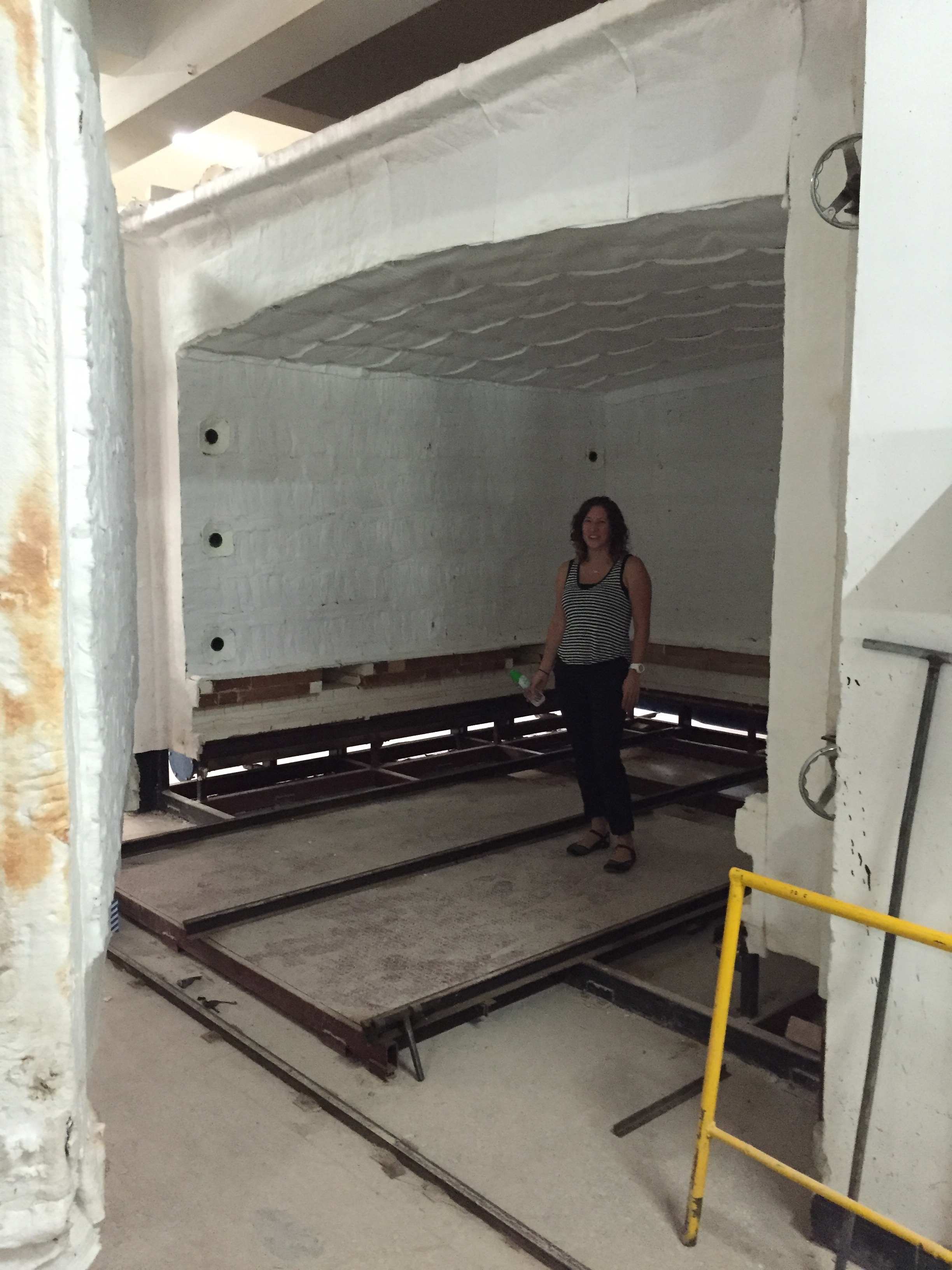 Check out the size of this car kiln! It is huge!!!