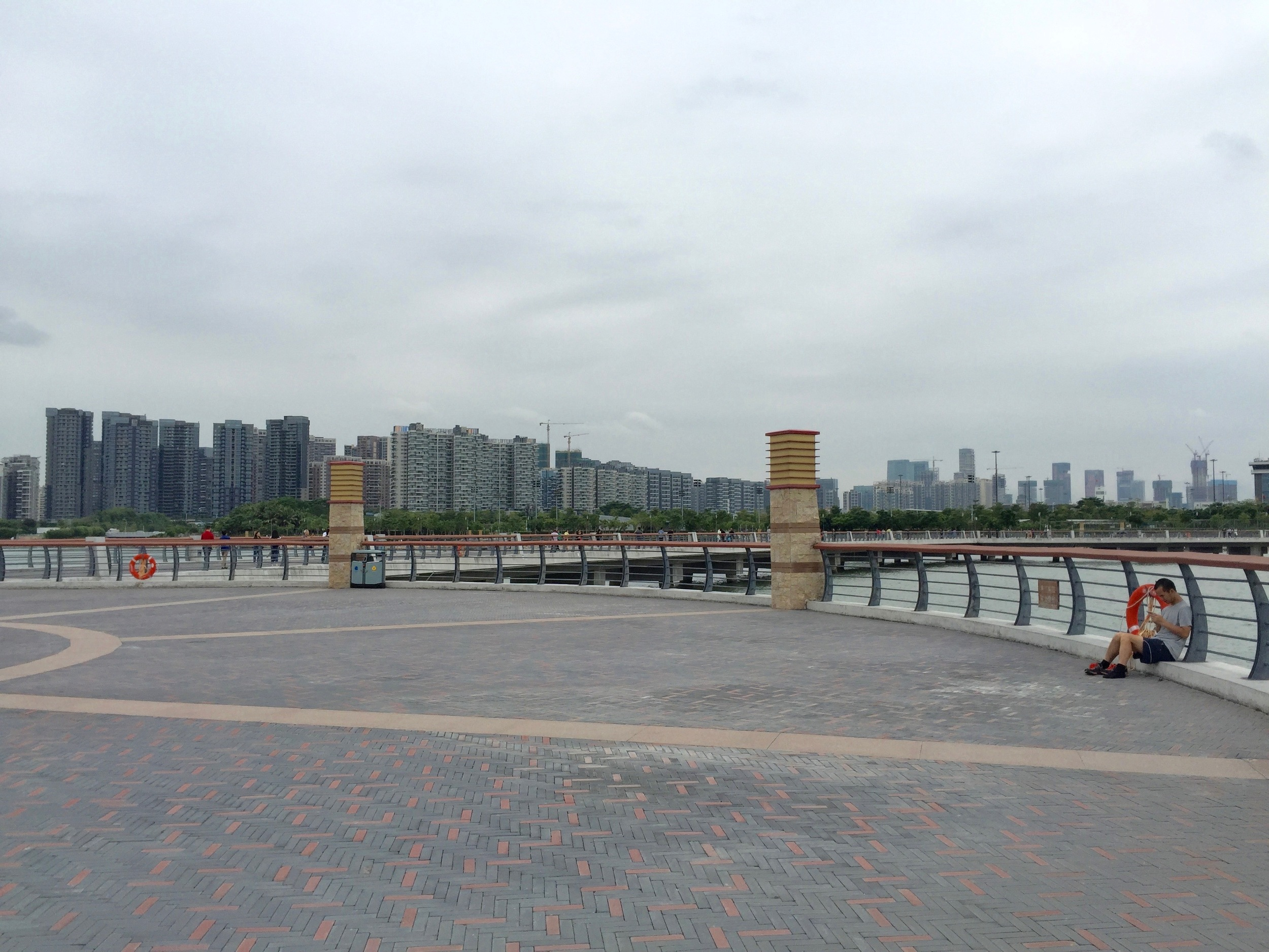 View of Shenzhen from the pier.