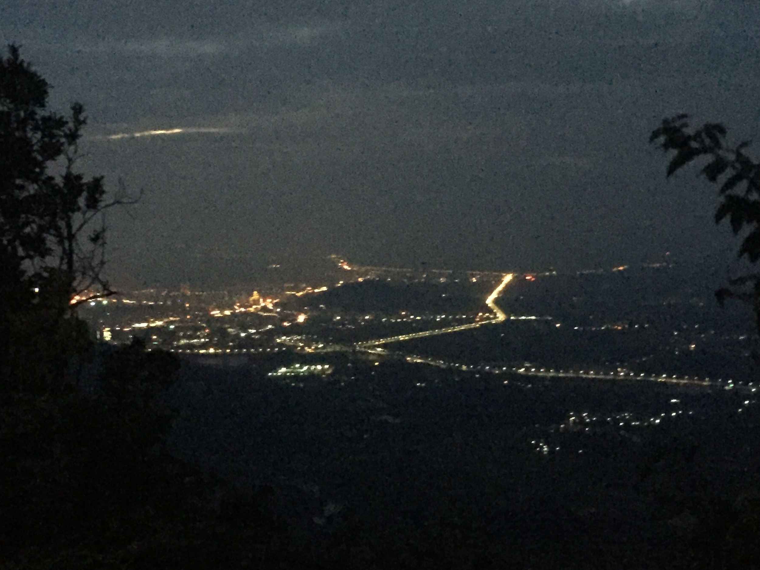 The city lights of Pingshan.