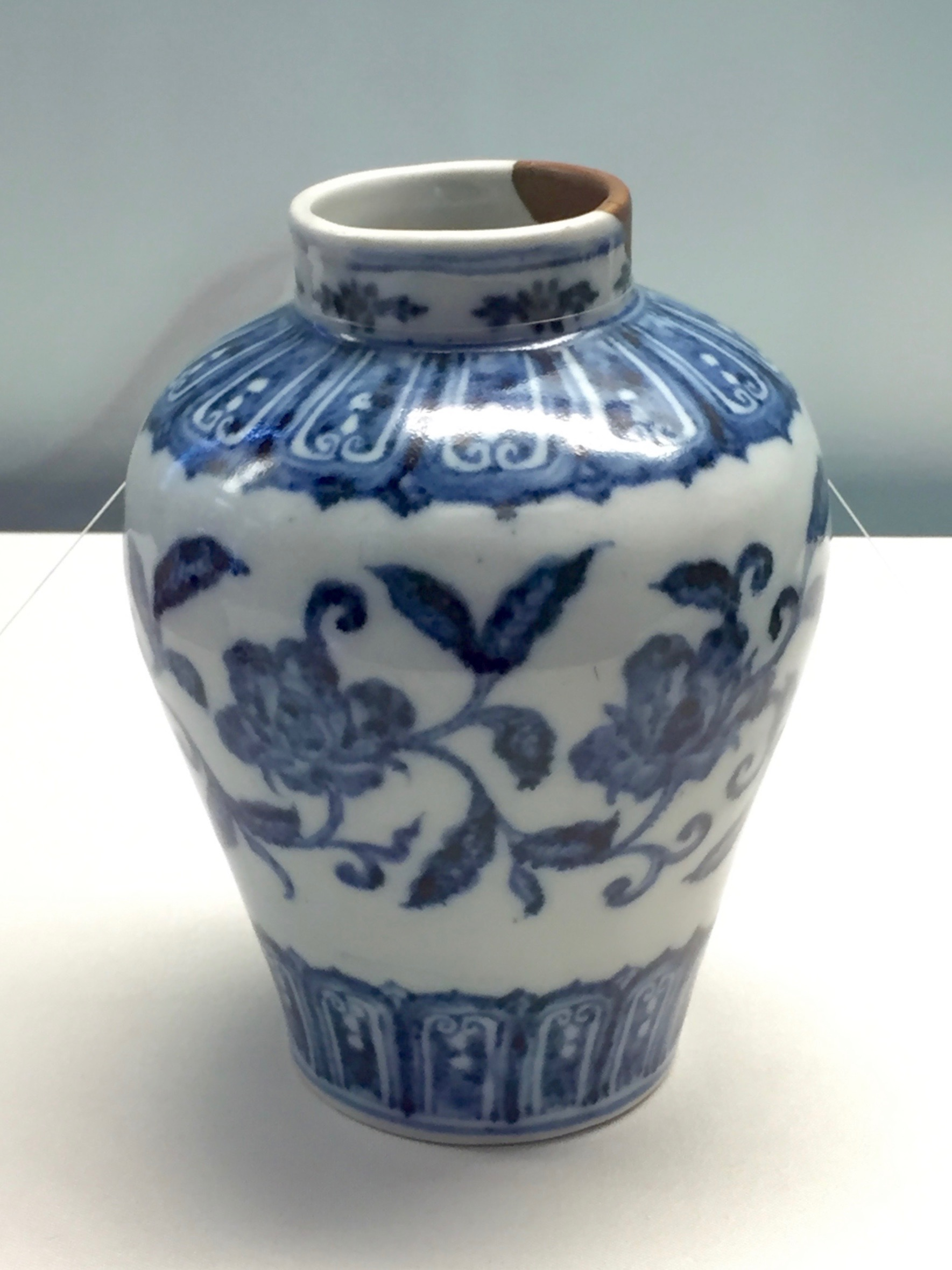 Blue and White Jar  Xuande Emperor's Reign (1426-1435), Ming Dynasty