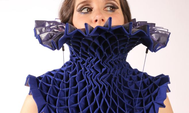 Lea Albaugh electromechanically actuated cocktail dress