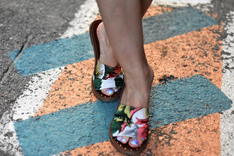 floral Steve Madden sandals