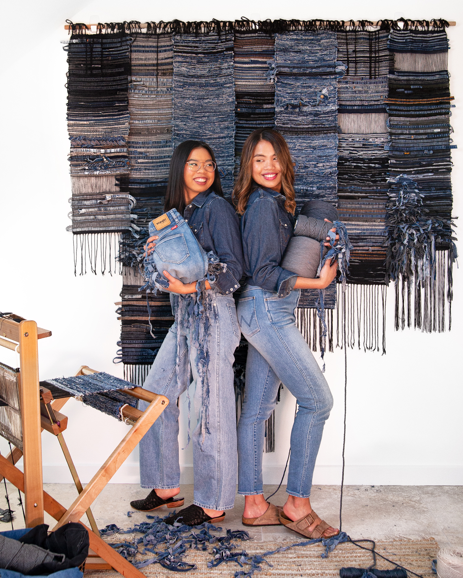 Repurposing and recycling preloved denim into unique expressions of art. Photography by Darren Luk.