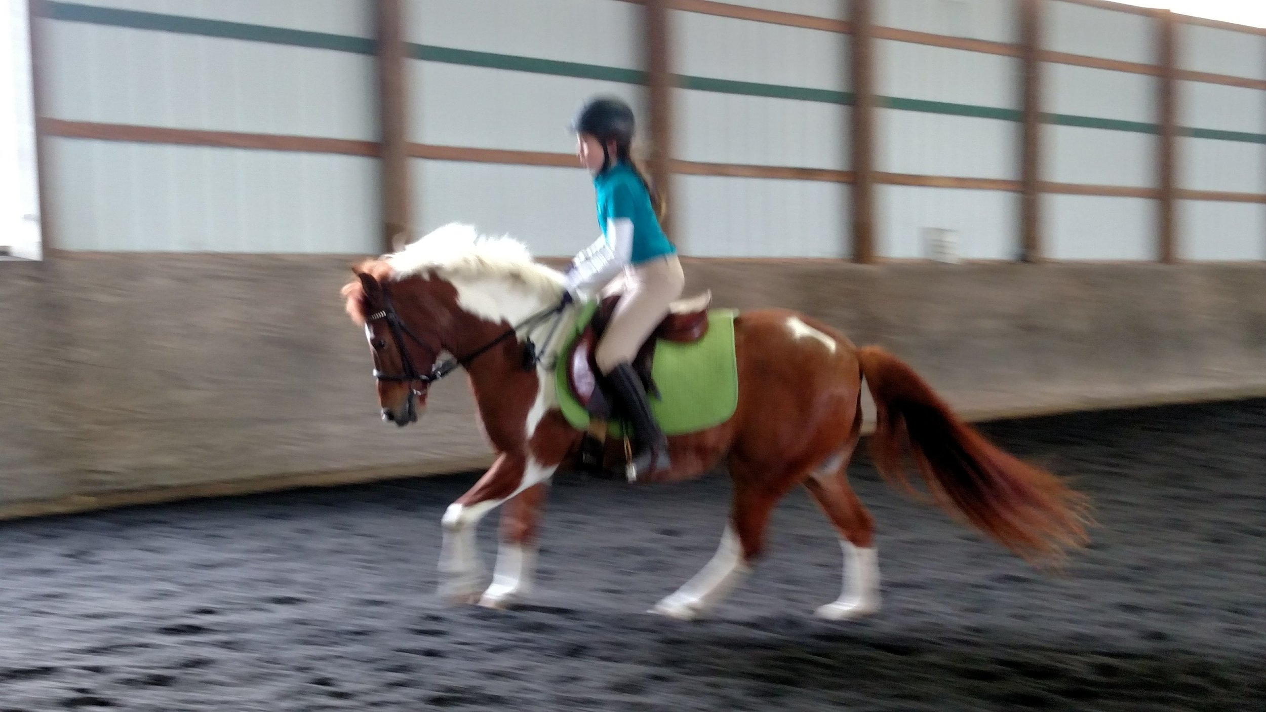 SaraKate worked very hard to get her middle to not be so wobbly, and did a great job!