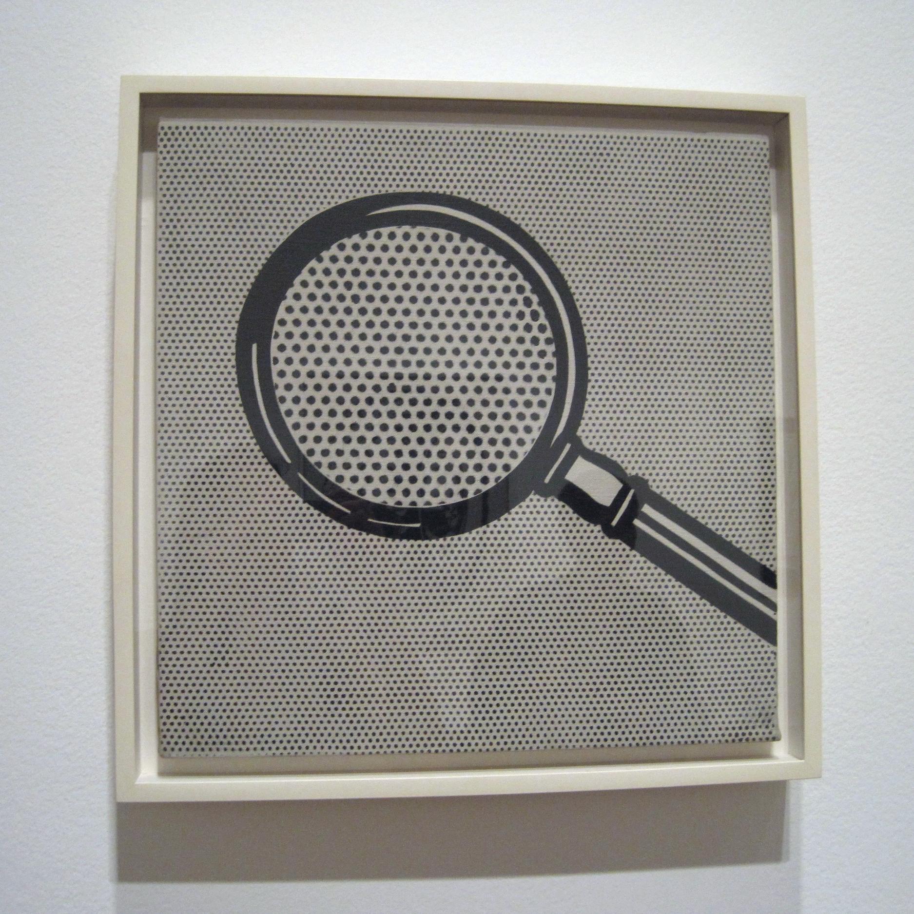 Roy Lichtenstein , Magnifying Glass,  1963, Exhibited at The Art Institute of Chicago, Summer 2012