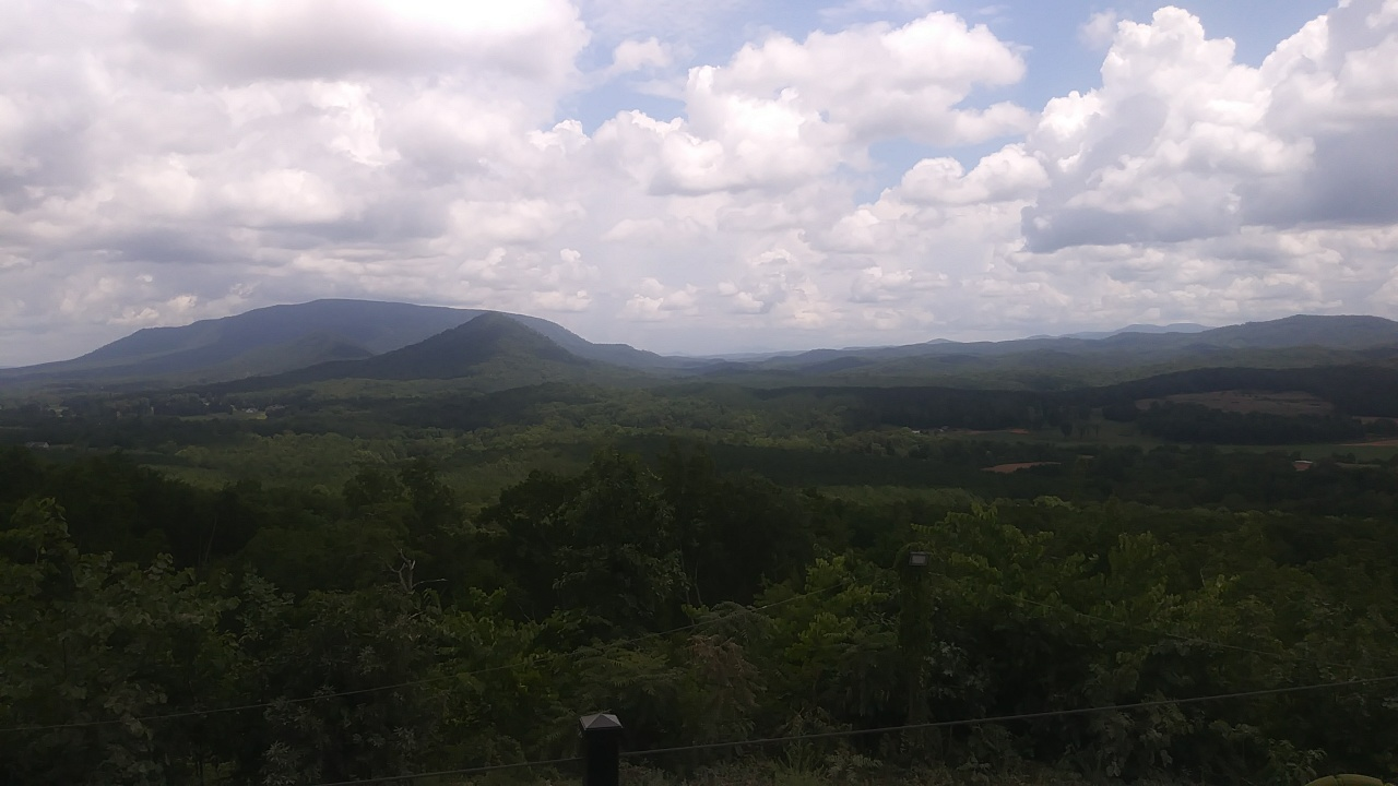 The view of the Ocoee Ridge at the Fraternus Ranch.