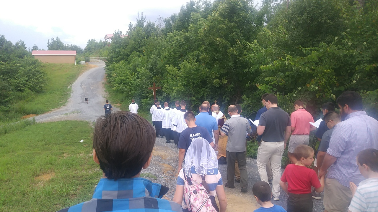 Eucharistic Procession (check), white water rafting (check), mountain climbing (check), 300 men growing in virtue (check).