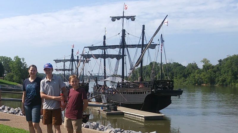 The Nina and the Pinta docked in Clarksville.