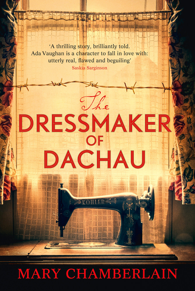BOOK COVER - The Dressmaker of Dachau by Mary Chamerlain