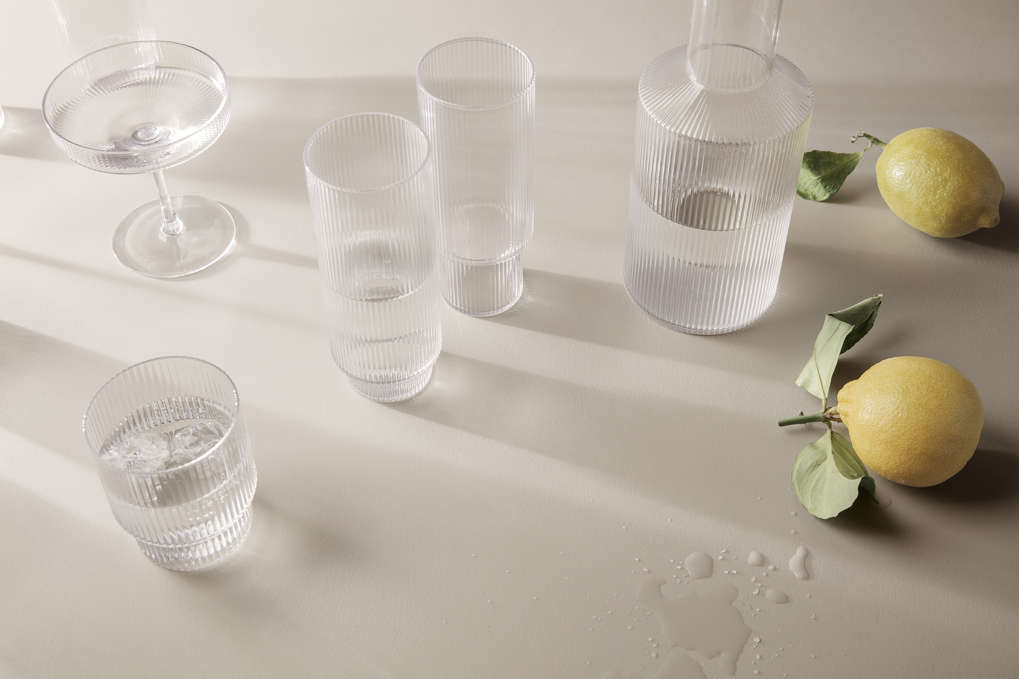Ripple Long Drink Glasses