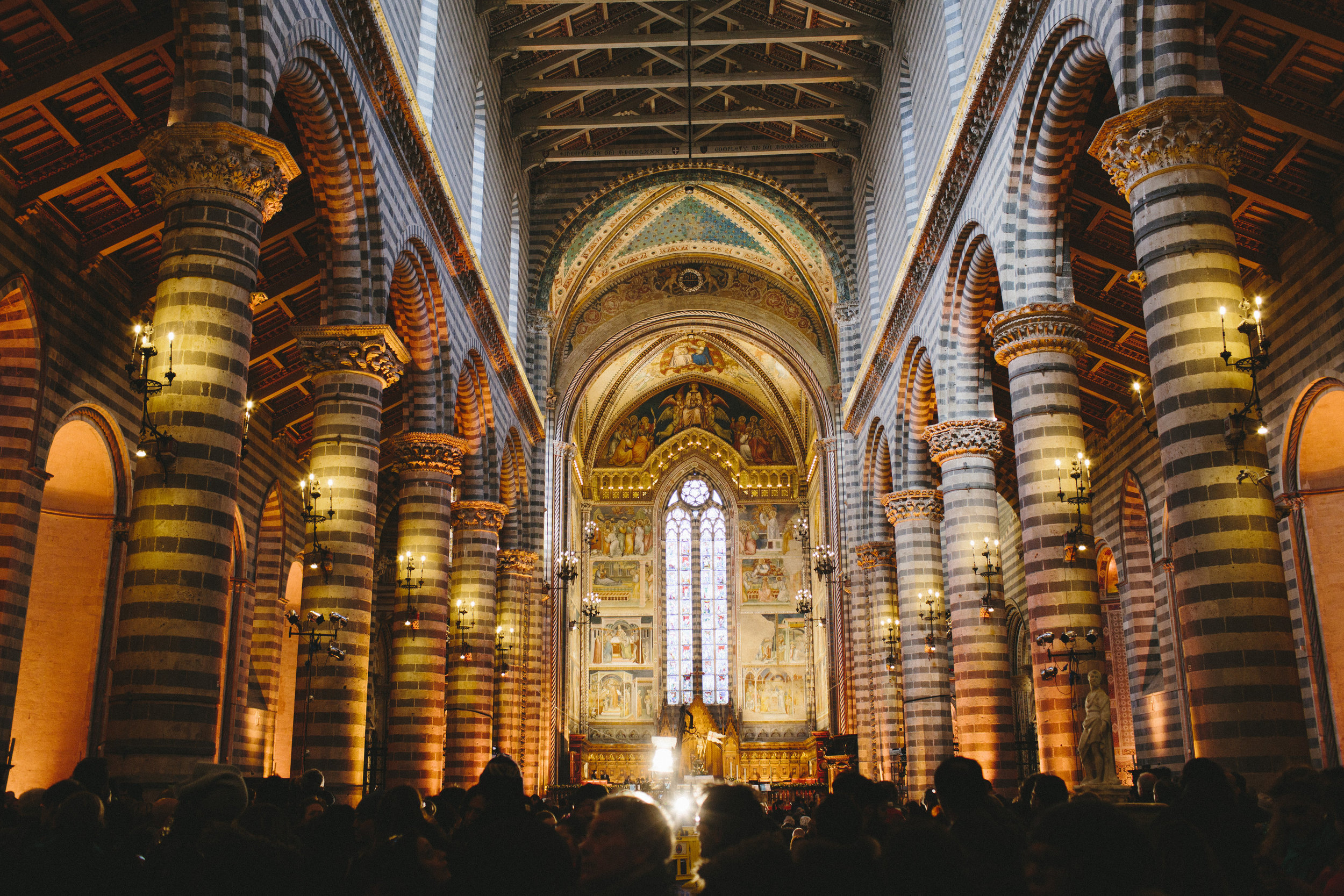 The interior of the Duomo (Photograph by Miranda Fuchs).