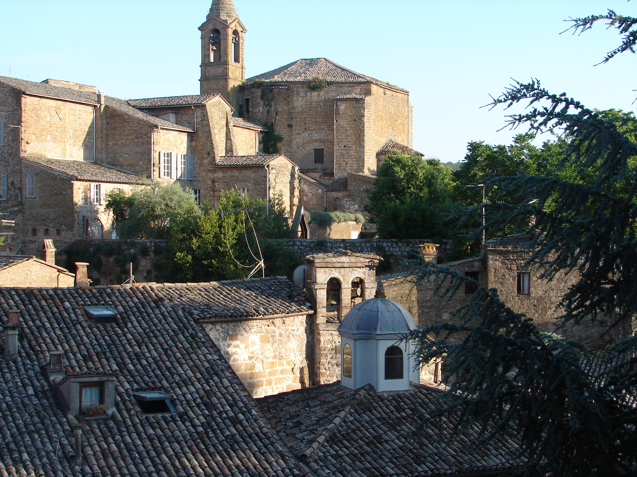 The medieval quarter seen from the entrance to Palazzo Simoncelli (Photograph by John Skillen).