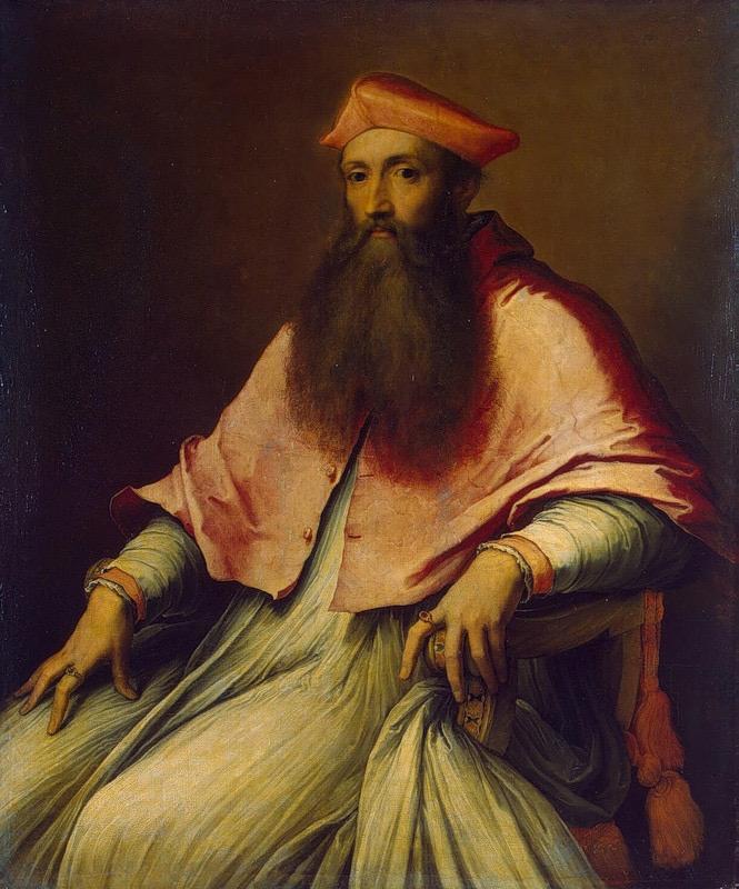 Portrait of Cardinal Reginald Pole (1540s) by Sebastiano del Piombo (The State Hermitage Museum, Saint Petersburg, Russia)