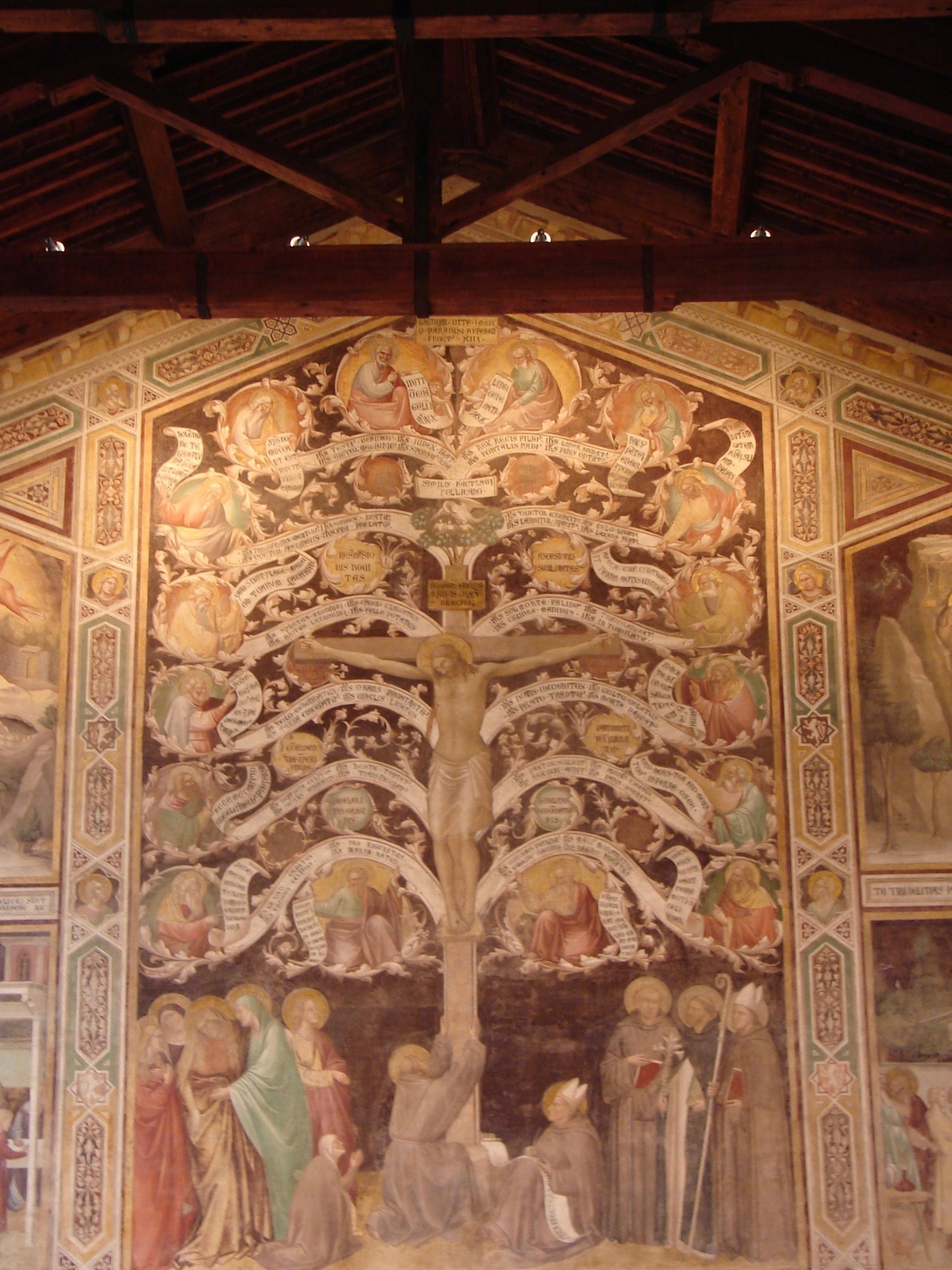 Taddeo Gaddi, Tree of LIfe, refectory of Santa Croce, Florence; photograph courtesy of John Skillen