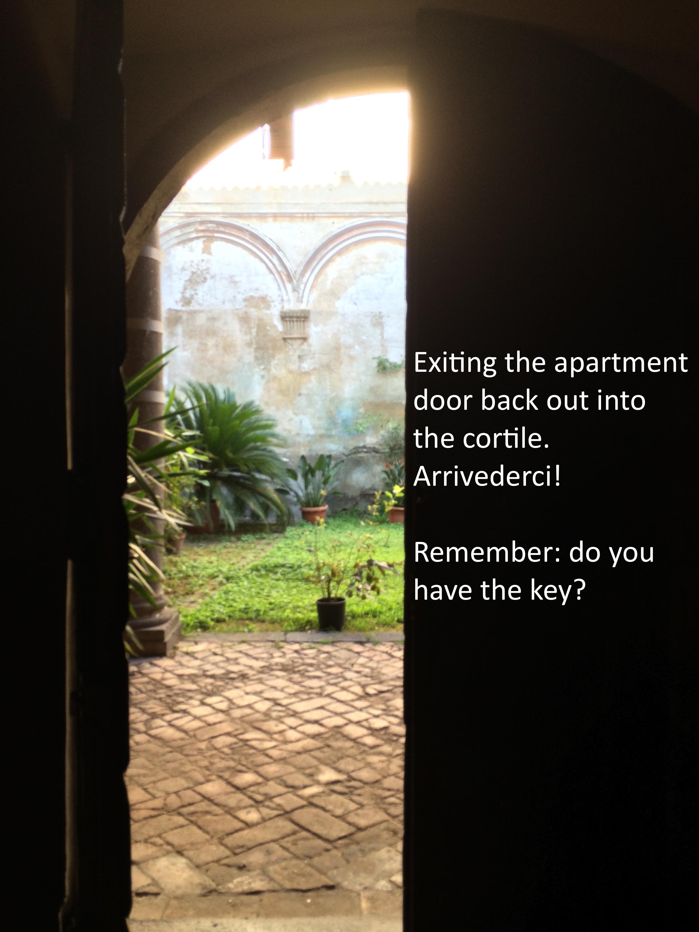 #32 Exiting the apartment door Arrivederci!.JPG