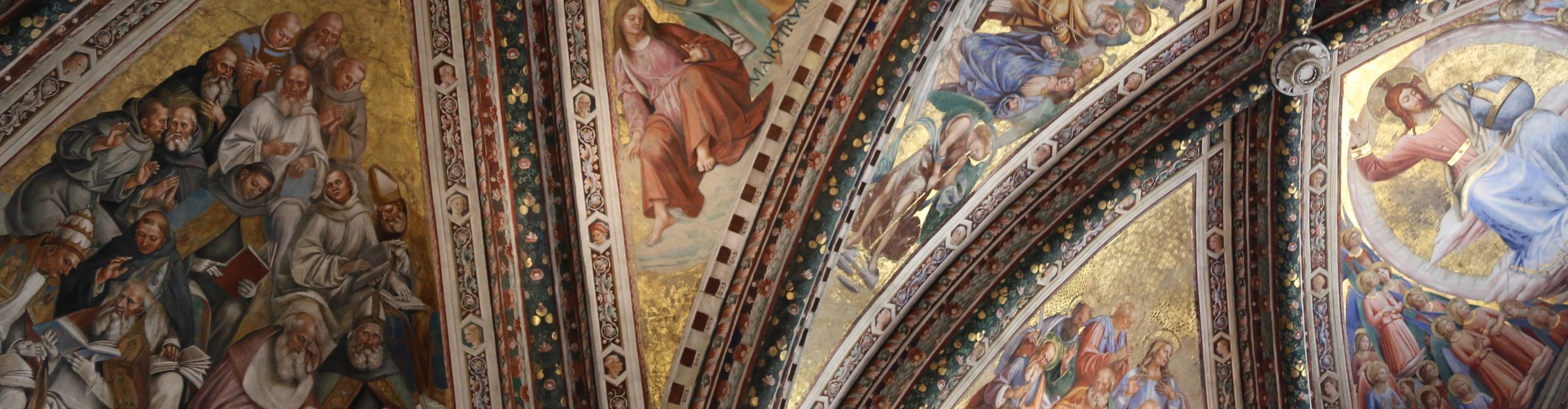 Detail of the ceiling frescos in the Chapel of San Brizio, the Duomo in Orvieto (photo credit Gianna Scavo)