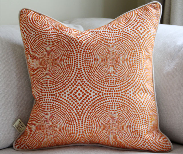 Cushion designed by author Nathalie Marsan