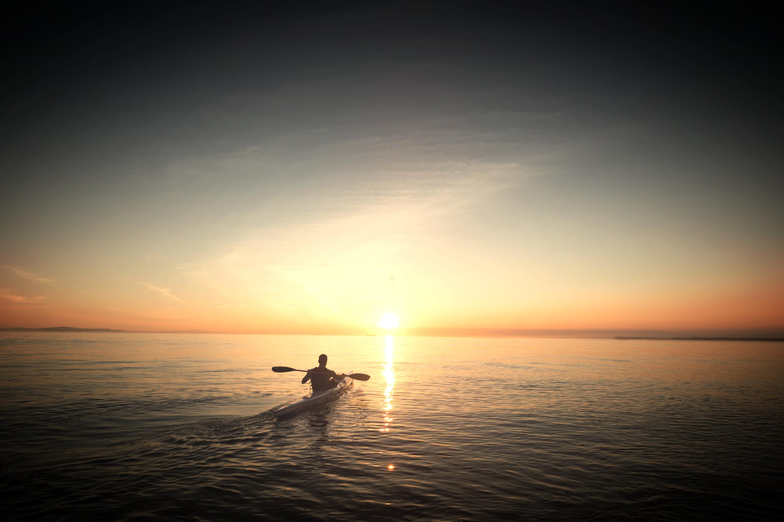 Kayak into the sunset