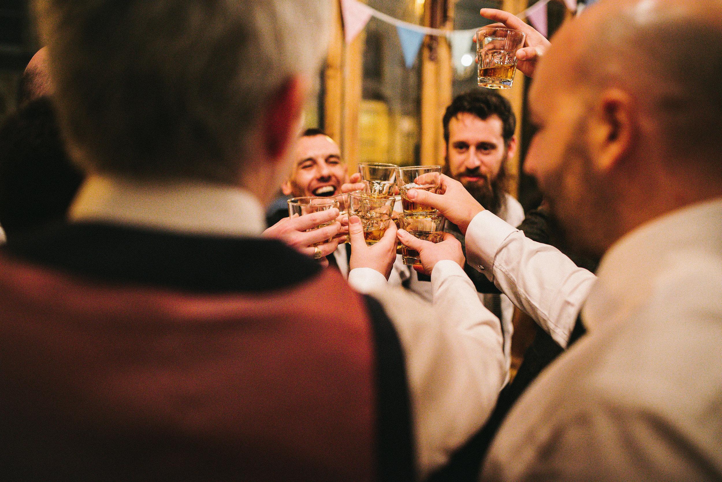 Wedding celebrations Jager bomb