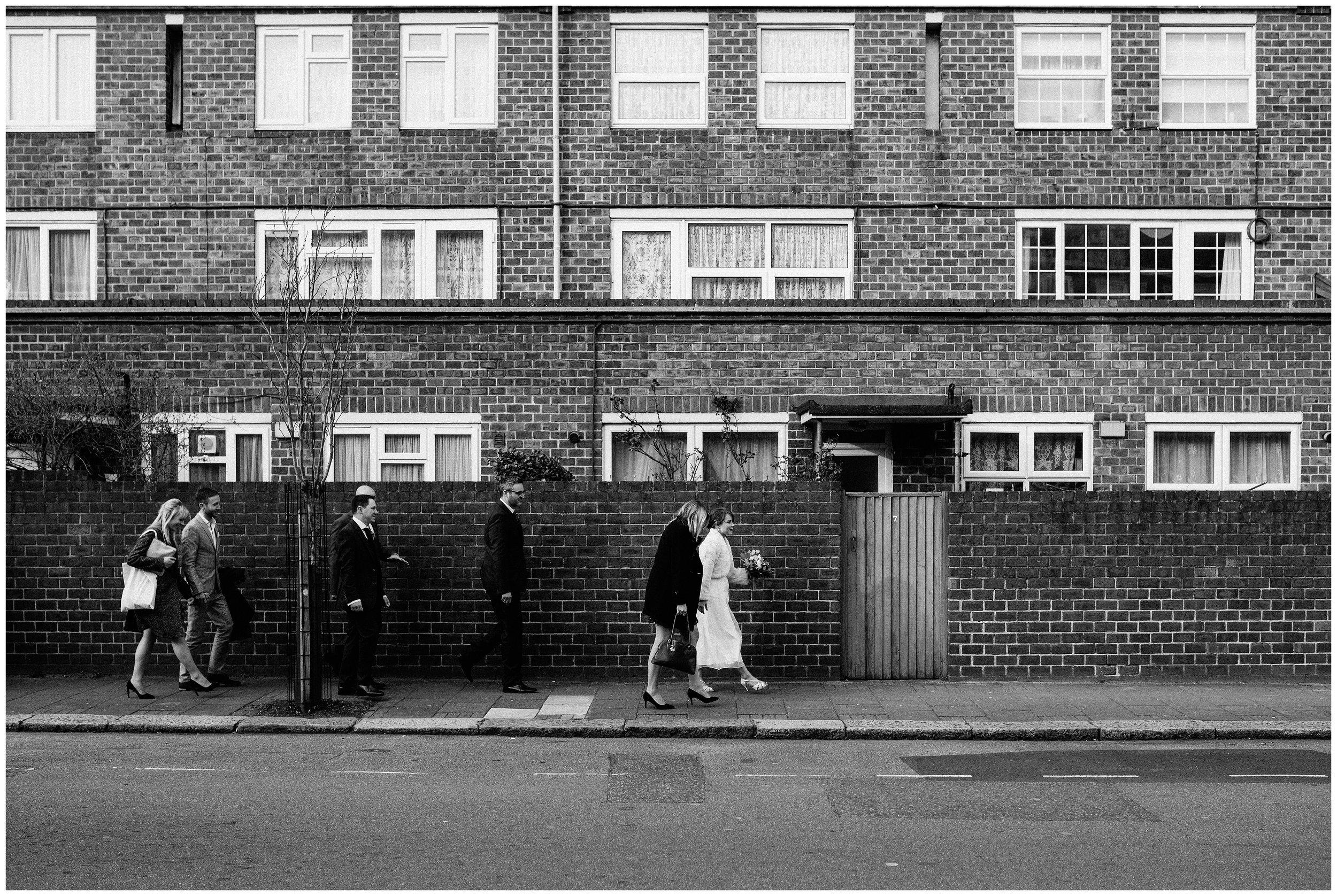 Alternative London wedding photographer urban black and white photography