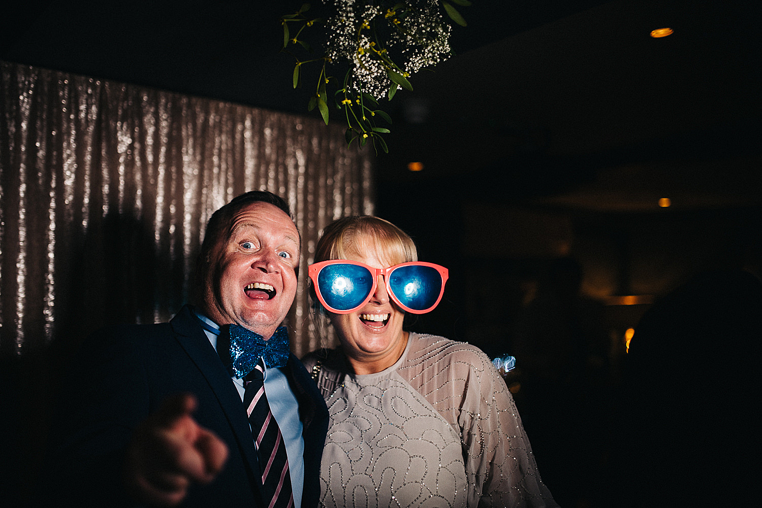 photo booth at wedding The George in Rye