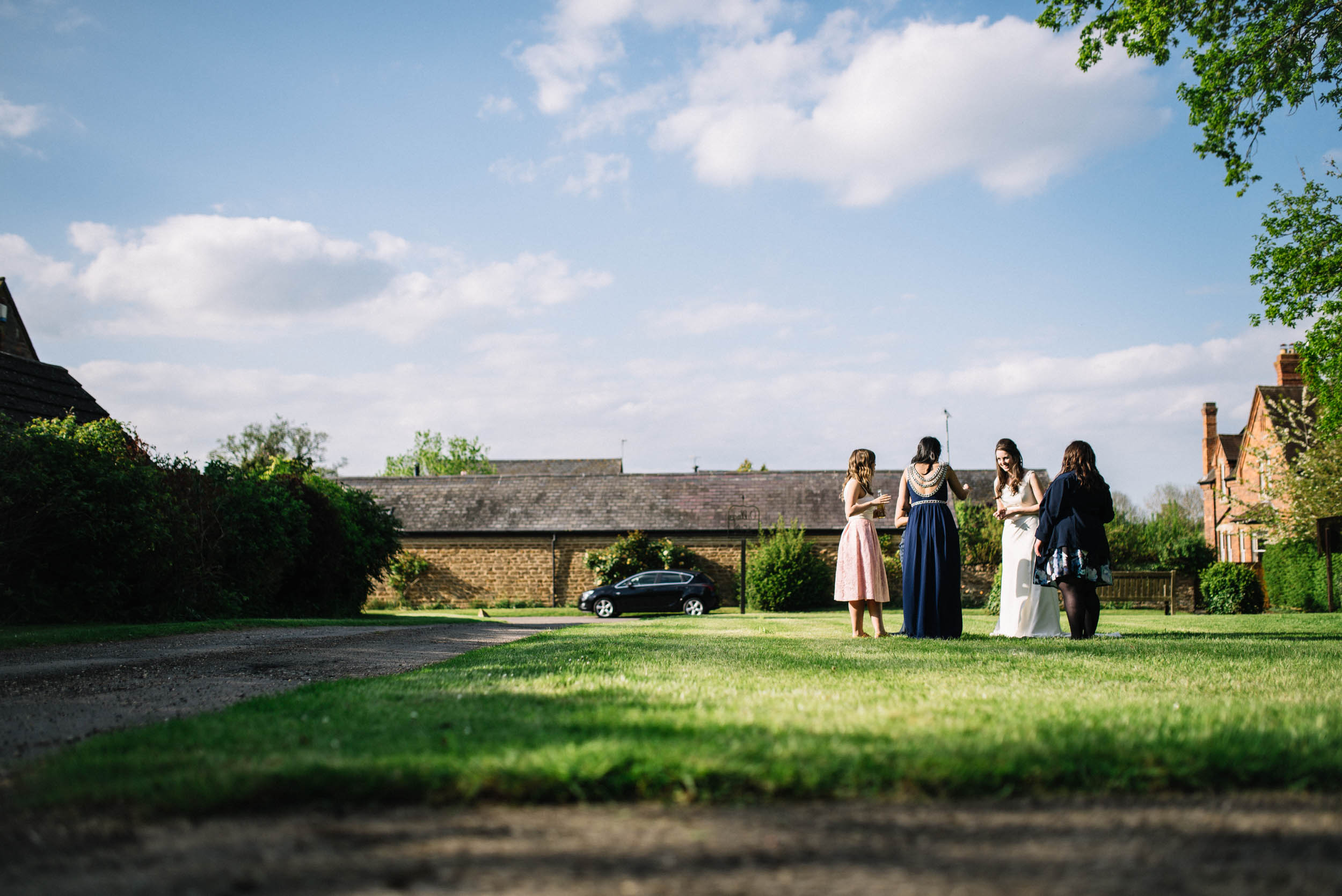 Wedding reception on the village green