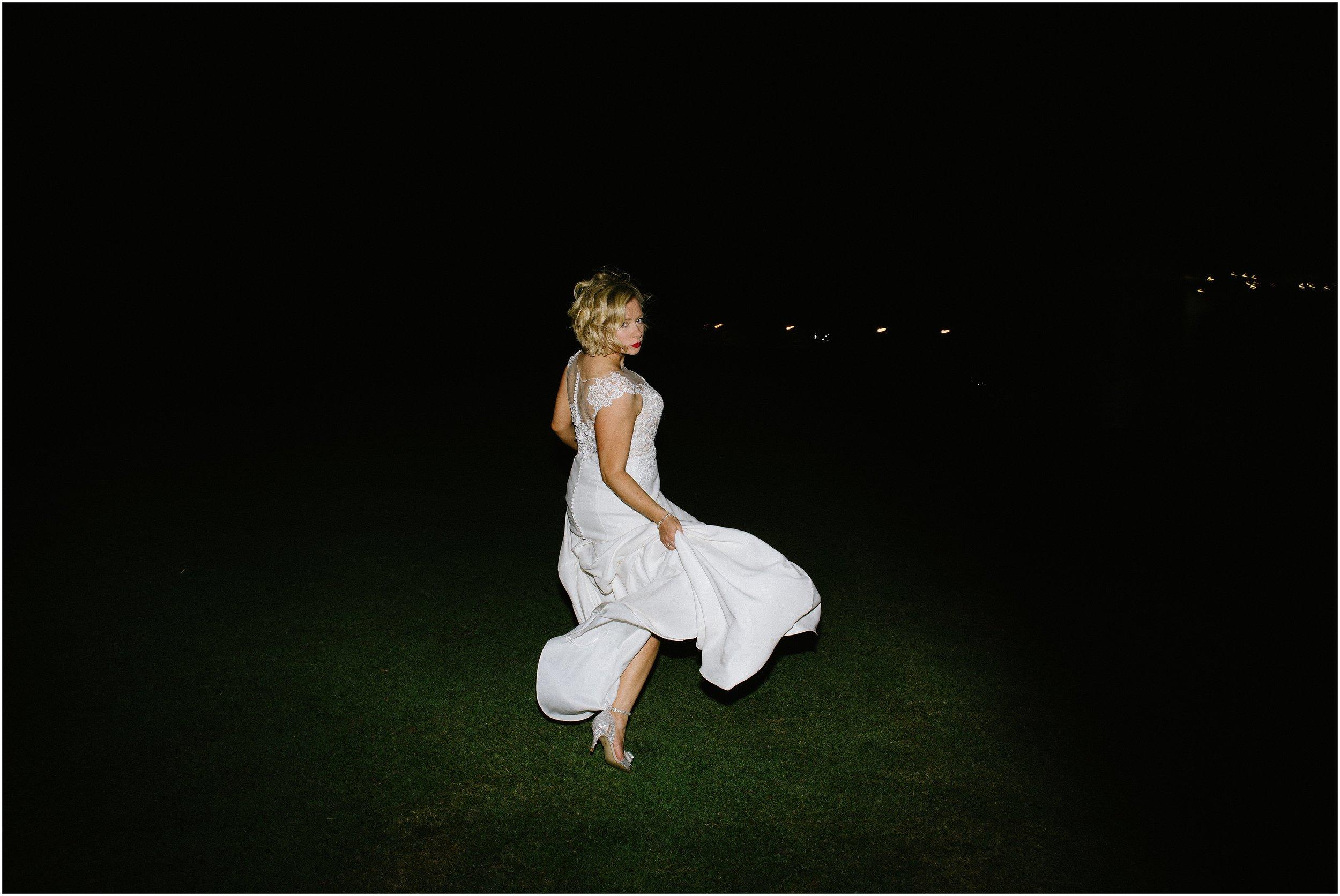 Cool alternative bridal shoot