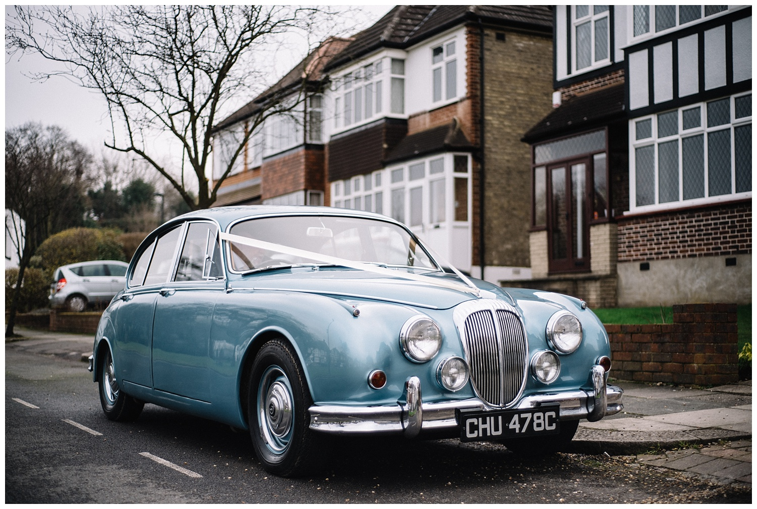 Jaguar wedding car by Joe Kingston photography wedding photographer in Hertfordshire