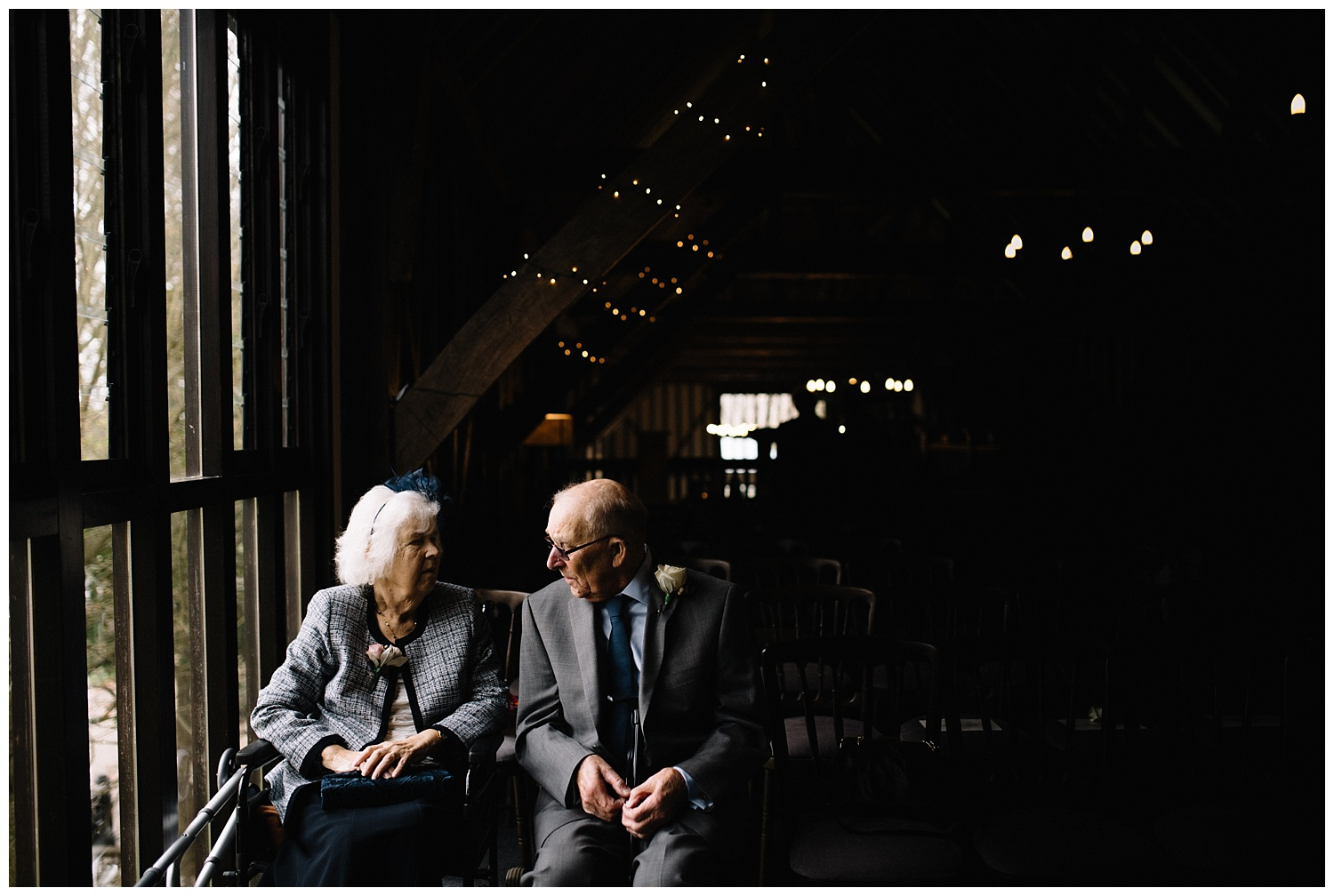Grandparents during wedding ceremony at Essendon Country Club in Hertfordshire