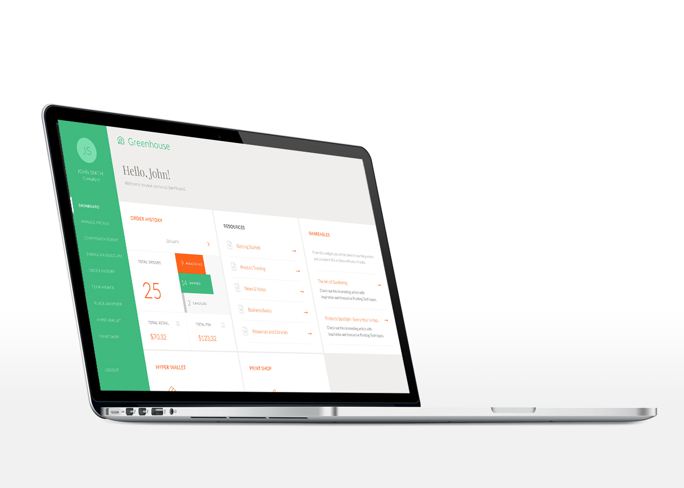 Greenhouse dashboard by Gen Design Studio