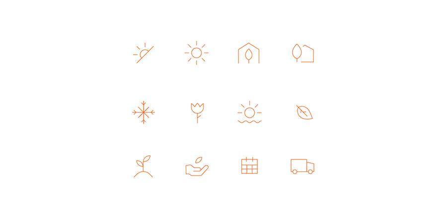 Icon set for Gardenuity website by Gen Design Studio