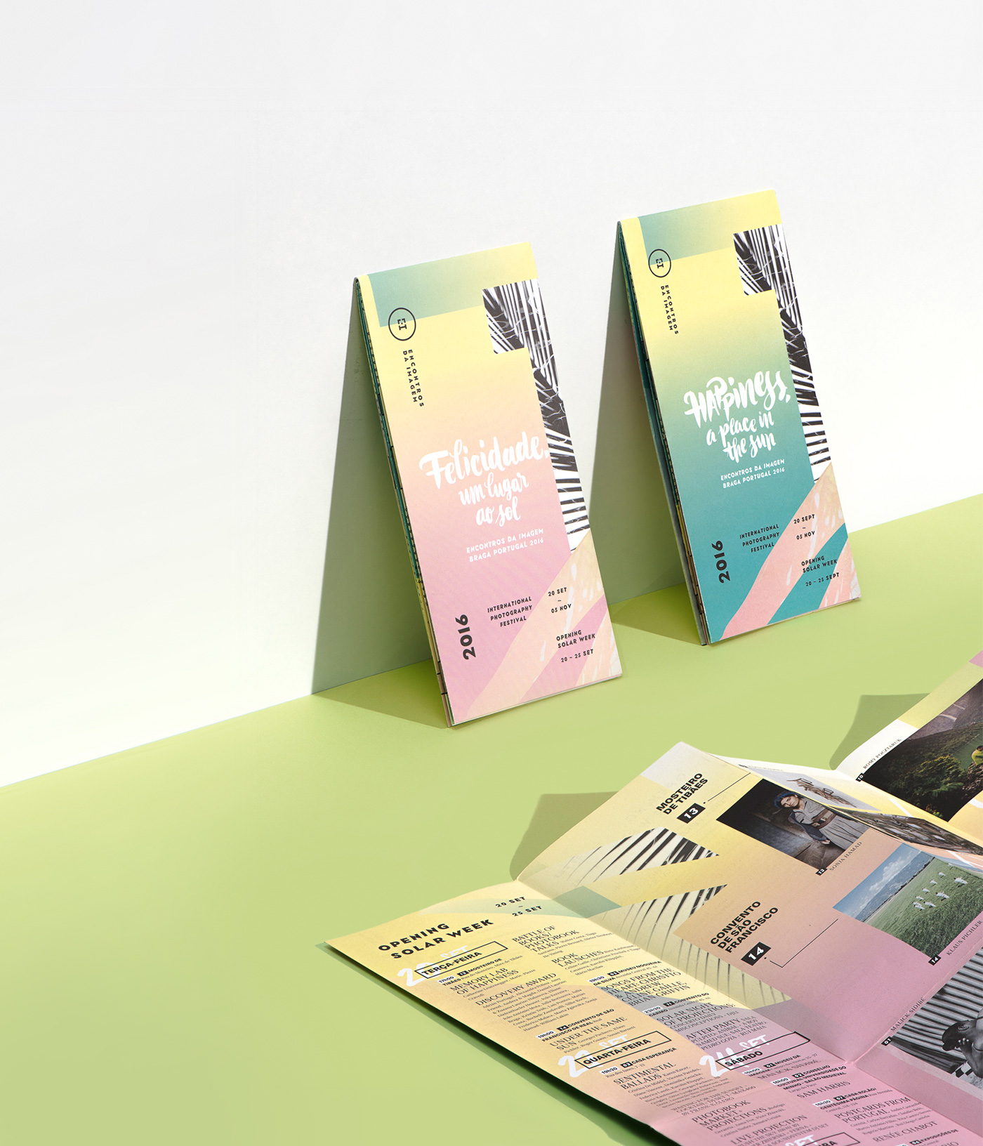 Encontros da Imagem 2016 — fold out with event timetable and map — event identity by Gen Design Studio